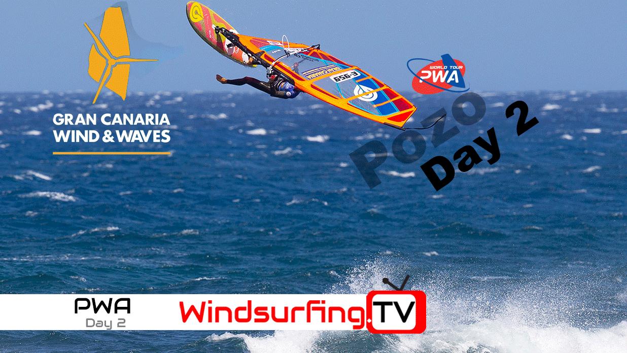 Day 2 – Pozo – PWA World cup – 2019 – Windsurfing TV